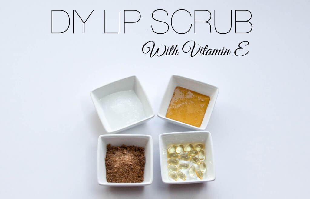 vitamin-e lip scrub