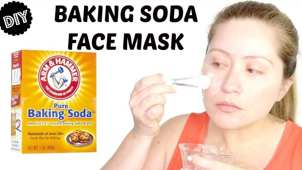 backing soda face pack