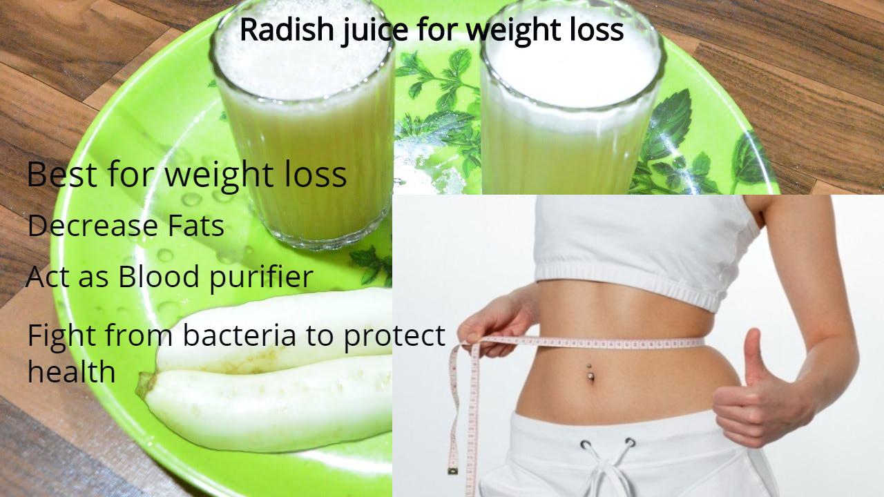 radish juice for weight loss